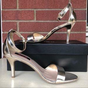 Betsyville Gold Strap Heels